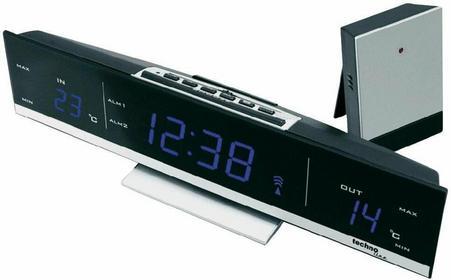 Technoline Zegar z czujnikiem temperatury -Budzik Sterowany radiowo WS 6810 bla