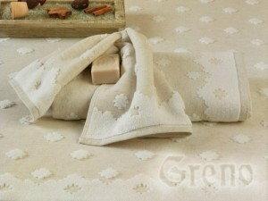 Greno Ręcznik Natur 70x140 Bawełna 90% i Len 10% A897-874AA
