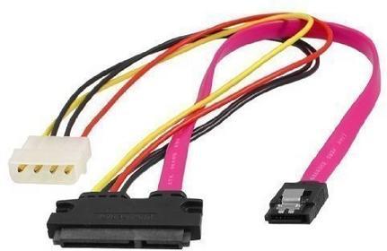 Sourcingmap sourcingmap Slimline SATA 7 + 15P auf SATA 7 pin IDE 4 pin Splitter Stromkabel