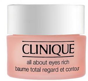 Clinique All About Eyes - Krem nawilżający zmniejszający widoczność linii pod oc