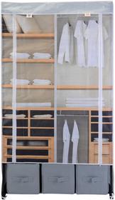 Szafa na ubrania, składana garderoba, 160x88x50cm B01HMIZBXS