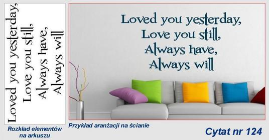 Loved you yesterday .... - C124