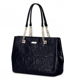 Nucelle Klasyczna damska torebka na ramię Czarna 1170649-01