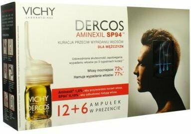 VICHY Dercos AMINEXIL Pro Kuracja przeciw wypadaniu włosów dla mężczyzn 18x6ml