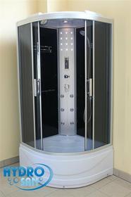 Hydrosan WSH-1306 100x100 profil aluminium szkło przyciemnione + brodzik