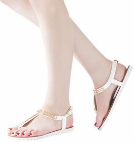 Białe sandały biały