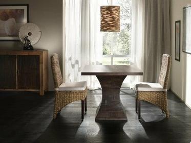 Bortoli Komplet jadalniany z bambusa i bananowca - Stół Clessidra i 2 krzesła Tr