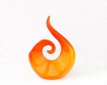 Wazon PŁOMIEŃ Pomarańczowy