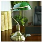Lumina Stojąca LAMPKA biurkowa BANKIERSKA LDT 8822 GR Deco metalowa LAMPA stołowa regulowana zielony
