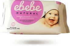 EBEBE Chusteczki nawilżające dla niemowląt (72szt.) - bez alkoholu, PEG i parabenów