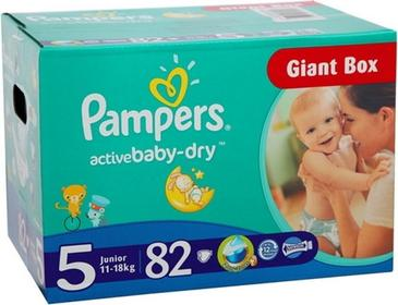 Pampers Active Baby 5 Junior 82 szt.