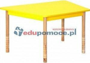 Novum Stół kolorowy trapezowy żółty pastel