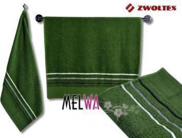 Zwoltex Ręcznik kąpielowy jednobarwny GRAFIT bawełniany 50x90 cm (grafit m ziel)