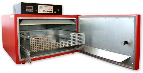 Grawerton Piecyk z termoobiegiem Red Grovn, sublimacja- na zamówienie NB-4011