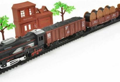Realistyczna Kolejka Rail King - Parowóz + 3 Wagony 19033-1