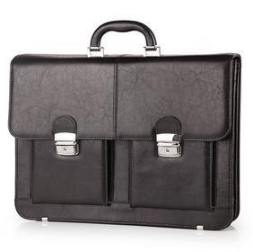 Galskór Teczka skóra męska na laptopa 15 Elegant - Ciemny brąz M-539