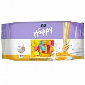 Bella TZMO SA Chusteczki nasączone Baby Happy Mleko & Miód 64szt.