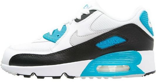 Nike Sportswear AIR MAX 90 Tenisówki i Trampki white/neutral grey/black/blue lag
