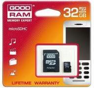 Goodram MicroSDHC 32 GB Class 4 + Adapter