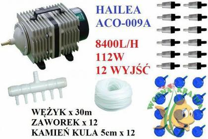 Hailea ZESTAW POMPA NAPOWIETRZACZ KOMPRESOR ACO-009A 8400L/H