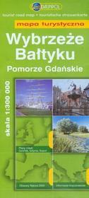 Wybrzeże Bałtyku Pomorze Gdańskie 1:300 000 mapa turystyczna