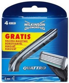 Wilkinson Sword Quattro Quattro ostrza zapasowe 4 szt + uchwyt 5 szt