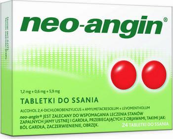 Divapharma Neo-Angin z cukrem 24 szt.