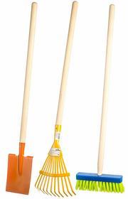 Teddies Zestaw narzędzi łopata, grabie, miotła