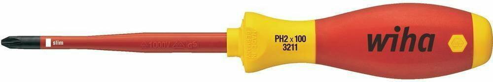 Wiha wkrętak krzyżakowy 35393 PH1 x 80 mm VDE DIN 7437/DIN 5264/DIN