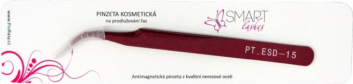 Kosmetyczna Pęseta do przedłużania rzęs Vetus. Zakrzywiona. Czerwona ()