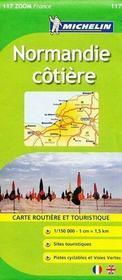 Wybrzeże Normandii  mapa 1:150 000 Michelin