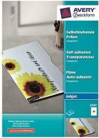 Avery Folia samoprzylepna Zweckform 0,17 mm do drukarek atramentowych 50