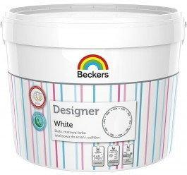 Beckers Designer White 10L wodorozcieńczalna Farba lateksowa
