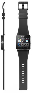 Sony SmartWatch 2 Black Silikon