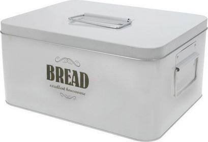EH Excellent Houseware Metalowy chlebak BIN TIN, Chlebak - biały 17