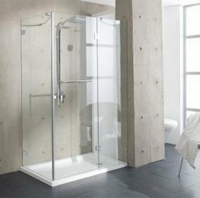 Rea JF 8238 120x80 szkło transparentne powłoka Easy Clean + brodzik