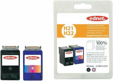 HP Tusz do drukarek Atramentowych zestaw zamiennik ednet H21 H22 zamiennik 21 22