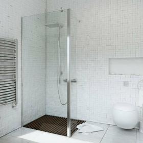 Sea-horse Ścianka prysznicowa narożna z ścianką ruchomą Easy In 90-140 szkło tra