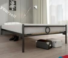 Lak System łóżko metalowe Basic 90 x 200 cm 90200basic