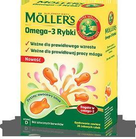 Axellus Mollers Tran Norweski Rybki dla dzieci 36 szt.