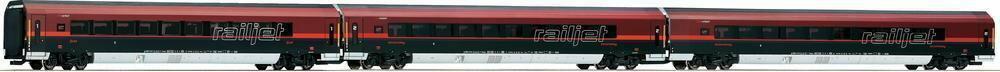 Roco Wagon osobowy 63126 Railjet z OBB bez oświetlenia 3 szt. skala H0