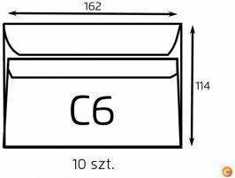NC Koperta C6 biała samoklejąca (op. 10 szt.) (B-KOP-C6/10 sk biała)
