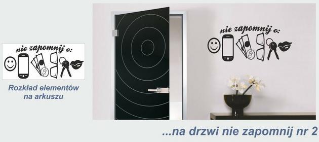 Naklejka na drzwi nie zapomnij nr 2