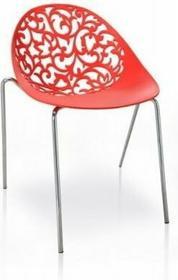 Living Art Krzesło Aurora czerwone