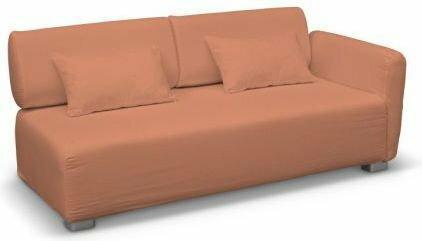 Dekoria Pokrowiec na sofę 2-osobową jeden podłokietnik Mysinge Living brzoskwini