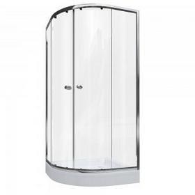Cersanit Mito 90x90 profil chrom szkło transparentne + brodzik + syfon TS501-006