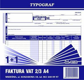 Typograf Faktura VAT (1+1) oryginał + kopia 2/3 A4