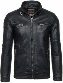 Extreme Czarna kurtka męska skórzana Denley 270 38124-5 Czarny