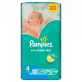 Pampers Active Baby 4 Maxi 58 szt.