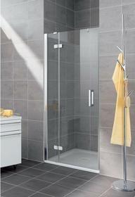 Kermi Gia Xp Drzwi prysznicowe z polem stałym - profil srebrny matowy 75 cm GXST